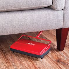 This manual sweeper uses reversible cleaning action to pick up crumbs, dust, ash, paper clips, and broken glass on low-pile carpet and hard-surface floors – it's a great alternative when you don't want to lug out the vacuum.