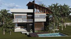 Bom dia! Hoje venho mostrar esse projeto residencial que amei participar, localizado no Rio de Janeiro, em um condomínio perto da praia! Adoro trabalhar com desnível e esse projeto veio como presente... #escritóriovidaverde #AnaPaulaGonçalves #arquiteturaepaisagismo #contrateumarquiteto
