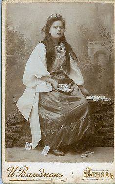 Gypsy Girl with tarot Cards!