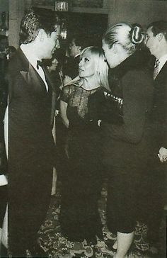 1997 - John F. Kennedy Jr. and Carolyn Bessette Kennedy with Donatella Versace