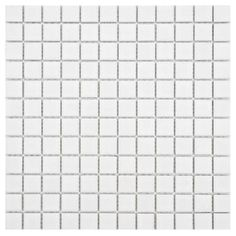 The Merola Tile Boreal Square White 12 in. Porcelain Mosaic Floor and Wall Tile features glazed smooth finish. This is suitable to use at any water-prone environment. It is perfect for both indoor and outdoor residential usage. Mosaic Backsplash, Mosaic Tiles, Wall Tiles Price, Black Interior Doors, Tiles Texture, Bathroom Interior Design, Flooring, Porcelain, Decorating Games