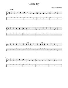 Download and print in PDF or MIDI free sheet music for Ode to Joy (for ukulele) arranged by Fiores for Ukulele (Solo)