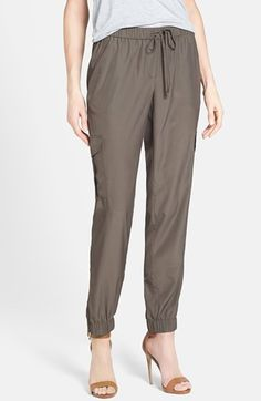 Halogen® Cargo Pocket Soft Woven Pants (Regular & Petite) available at #Nordstrom