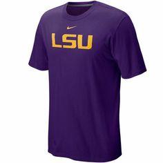 Nike LSU Tigers Classic Logo T-shirt - Purple
