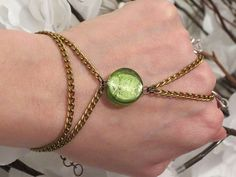 Green Bronze Slave Bracelet Ring Slave by TheMysticalOasisGlow, $25.00