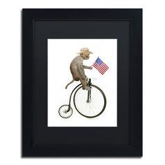 Monkeys Riding Bikes #3 by J Hovenstine Studios Framed Graphic Art