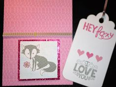 Feb 2014 Wild About Love - The card has a removable tag in the pocket which is also stamped.  Paper is Lollydoodle