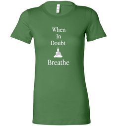Breathe Bella Ladies Tee  Stylish and fitted women's T-shirt. A high quality shirt for your casual needs. We recommend ordering at least one size up as Bella products run smaller than other brands.  Materials 4.2 oz 100% combed ringspun cotton  More Info  Crew neck basic with feminine styling. Contoured sideseams flatter the figure. Super soft baby jersey knit.