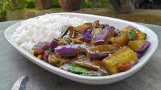 Thai stir-fried Eggplant   Vegan Vegetarian Recipe - YouTube
