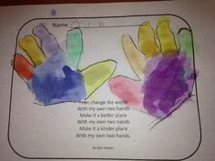 The Kindergarten Teacher: With My Own Two Hands for MLK Day.