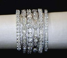 Stackable Wedding Rings!--available at Allain's Jewelry