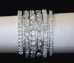 custom made bar necklace for cancerversary handstamped wedding rings stackablestackable - Stackable Wedding Rings