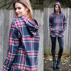 Tartan Old School Hoodie - LIMITED (WW $150AUD / US $120USD) by Black Milk Clothing