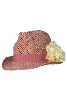 Luxury Divas Brown /& Beige Two Tone Straw Fedora Hat