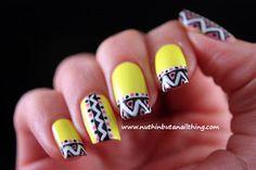 neon yellow nail art barry m nail art pens