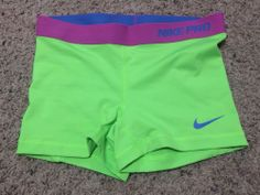 NEW! WOMENS NIKE DRI-FIT PRO COMBAT COMPRESSION SHORTS - SMALL-NEON GREEN #Nike #Shorts