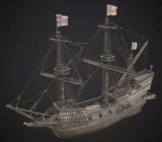 Ship Golden Hind 1577 This is a low-poly model of Ship Golden Hind. I hope you like this model Golden Hind, Model Ship Building, Low Poly Models, Model Ships, Sailing Ships, Awesome, Artwork, Boats, Concept Ships
