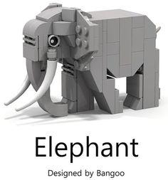 LEGO Animals Elephant by Bangoo