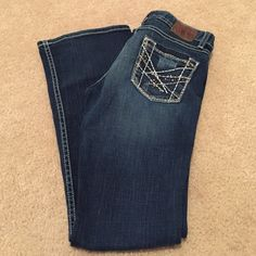 BKE Denim Boot Cut Stella Jeans 26 x 29 1/2 EUC!!! BKE Denim Boot Cut Stella Jeans 26 x 29 1/2 EUC, like new! Nice dark wash, not faded ! Excellent pair of jeans ! BKE Jeans Boot Cut