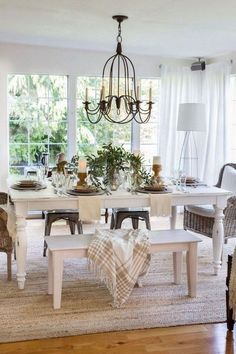 Luxury French Country Dining Room Decor - Home By X - 45 + Luxury French . - Luxury French Country Dining Room Decor – Home By X – 45 + Luxury French Country Dining Roo - French Country Farmhouse, French Country Dining Room Table, Luxury Dining Room, Dining Room Design, Dining Room Inspiration, Dining Room Table Decor, Modern Farmhouse Dining Room, Dinning Room Tables, Country House Decor