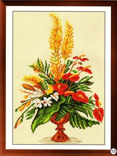 Cross Stitch Pattern A Bouquet Of Flowers In A by EasternTales
