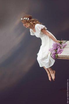 """""""Леля"""" Свадебное платье, связанное в филейной технике - Дар' Я - стильная вязаная одежда - Ярмарка Мастеров http://www.livemaster.ru/item/11072035-svadebnyj-salon-lelya-svadebnoe-plate"""