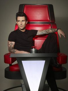The first photos of 'The Voice' Season 4 coaches: Adam Levine, Blake Shelton, and newcomers Shakira and Usher.