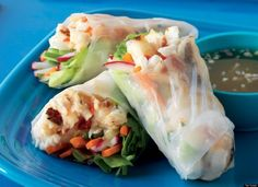 spring rolls with halibut, lemongrass and radishes yum!
