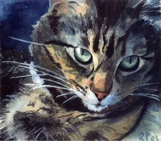 Nan's Maine Coon- unknown artist