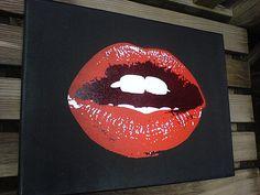 lips wall art / illustration