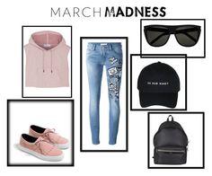 """future's madness"" by mirela-mihaela ❤ liked on Polyvore featuring Pierre Balmain, adidas, Zara, Yves Saint Laurent and hightops"