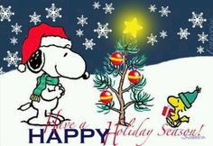 Happy Holidays Snoopy Quote