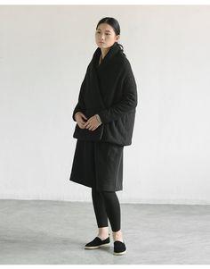 Black Wool cotton padded coats jackets BonLife от BonLife на Etsy