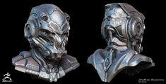 Sci-Fi Helmet by Jonathan BENAINOUS