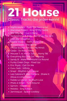 21 House Classics, Tracks die jeder kennt #HouseMusic #90er #Playliste #Neunziger #Nullies
