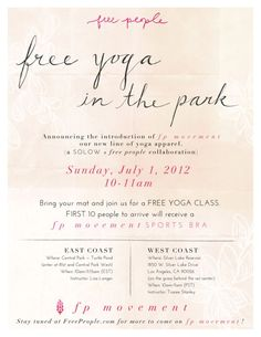 Yoga class event flyer poster template fitness events pinterest free yoga classes with fp stopboris Gallery