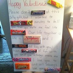 another pinners valentines day gift to her man. Love this Idea