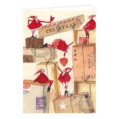 Weihnachts - Doppelkarte Silke Leffler / KLK 15659 Christmas Images, Christmas Time, Christmas Cards, Xmas, Illustrator, When I Grow Up, Whimsical Art, Mythical Creatures, Childrens Books
