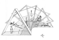 pavillion garten is a great idea for a cubby house on a large property. Using ply wood triangles and tinted Perspex. Plans Architecture, Architecture Presentation Board, Architecture Concept Drawings, Pavilion Architecture, Architecture Portfolio, Futuristic Architecture, Interior Architecture, Sustainable Architecture, Residential Architecture