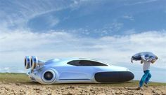 Tiene pinta de Overcraft del futuro, el vehículo que se desplaza sobre un colchón de aire, que tanto... - Getty Images