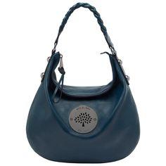 Mulberry - Daria Medium Hobo in Petrol Soft Spongy Purple Love, Hobo Handbags, Beautiful Bags, Crossbody Bag, Shoulder Bag, Purses, Medium, Zapatos