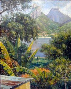 OBRAS DE CADA DIA: Agosto 2011 Jungle Art, Arte Country, Tropical Forest, Safari Theme, Knife Painting, Old World, Architecture Art, Oil On Canvas, Landscape