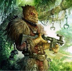 Trandoshan Wookie slaver