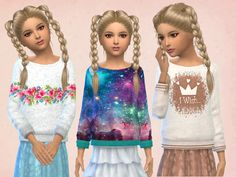 64 Best Sims 4 cc finds (korean clothes) images in 2018 ...Korean Toddler Hair Sims 4