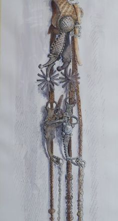 Tom Capron Spurs and Bridle; Texas Cowboys, Horse Bridle, Cowboy Art, Country Charm, My Heritage, Western Art, Saddles, Plant Hanger, Ladder Decor