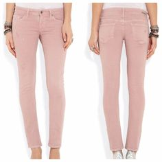 REDUCED ✔️ Dusty Rose Blush Pink Skinny Jeans Brand New, Never Worn | 'racer' low rise skinny in color 'tickle' Citizens of Humanity Jeans Skinny