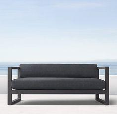 """64"""" Aegean Aluminum Sofa"""