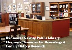 Buncombe County Library Electronic Resources for Genealogy & Family History Research