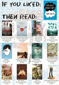 If you loved The Fault in Our Stars by John Green, like I did, then give these books a read! #readersadvisory #ya #youngadult