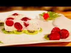 Glorious Raw Cream Cake with Sour Cherries - Ligia's Kitchen Healthy Desserts, Raw Food Recipes, Sour Cherry, Cream Cake, Sushi, Deserts, Sweets, Breakfast, Ethnic Recipes